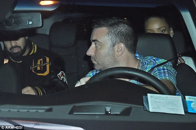 Homeward bound: The on-off couple were seen hopping into the back of a taxi together after their romantic dinner date at Nobu, NYC.