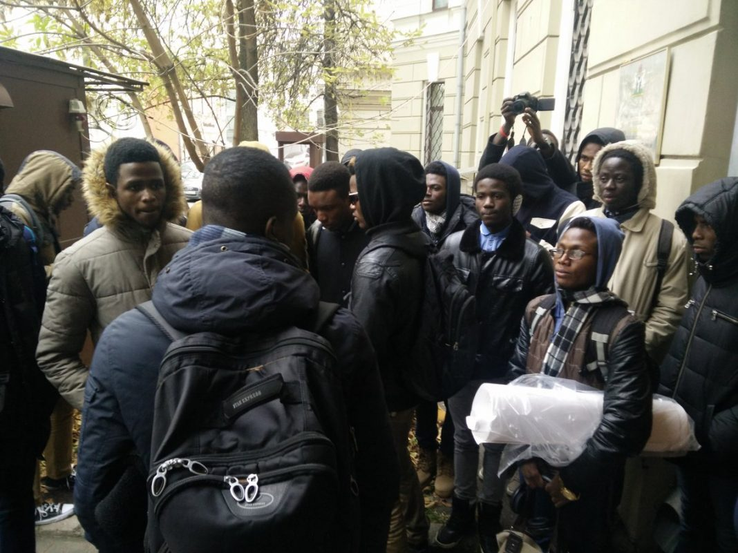 Nigerian students in Russia
